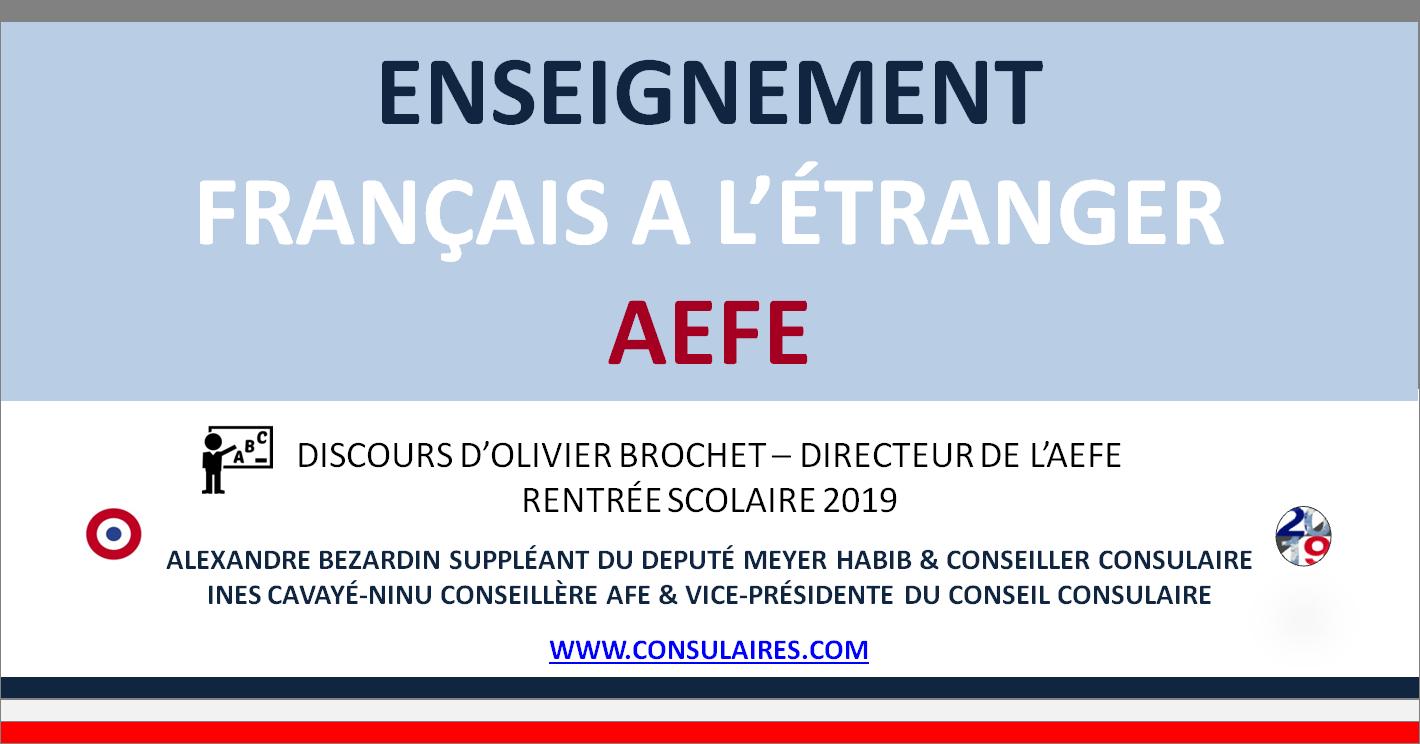 Réseau AEFE : Rentrée Scolaire 2019